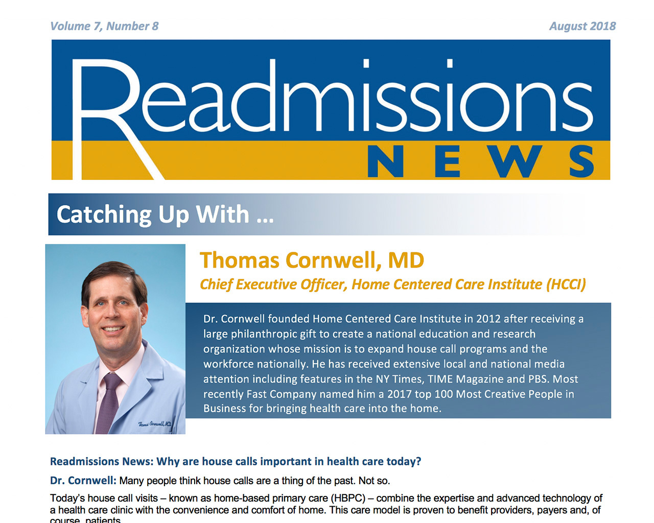 Readmission News Article