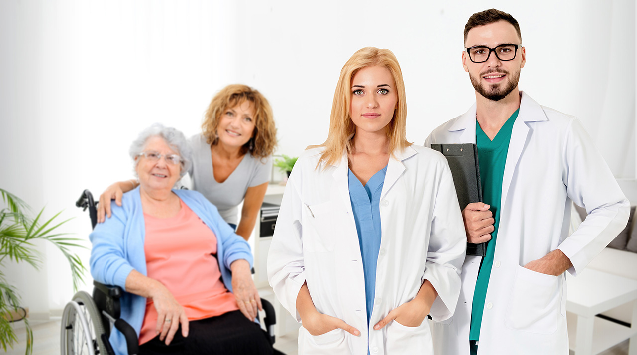Providers with patient and caregiver
